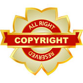 Copyright label for sale. — Stock Vector