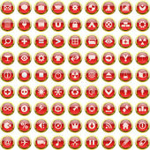 Vector great collection of web buttons. — 图库矢量图片