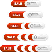 Vector set of sale design elements isolated on white background. — 图库矢量图片