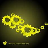 Gear background. — Stock Vector