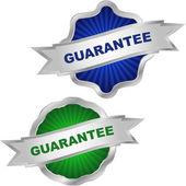 Vector guarantee label set. — Stock Vector