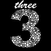 THREE. Vector illustration. — Stock Vector
