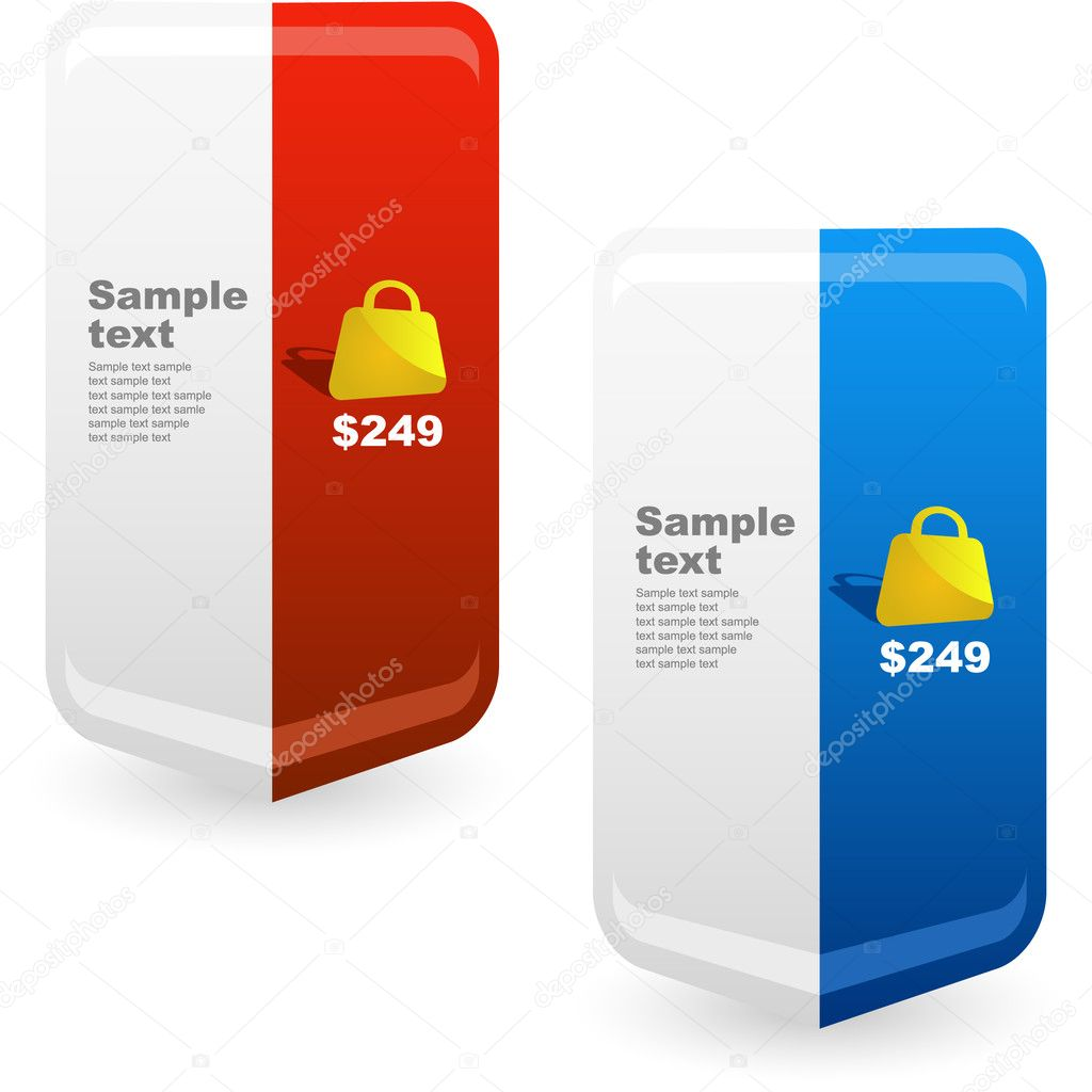 Vector great collection of sale elements. — Stock Vector #7160225