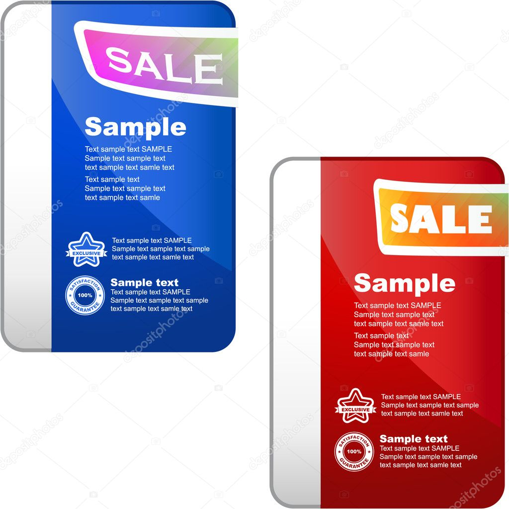 Vector great collection of sale elements. — Stock Vector #7160596