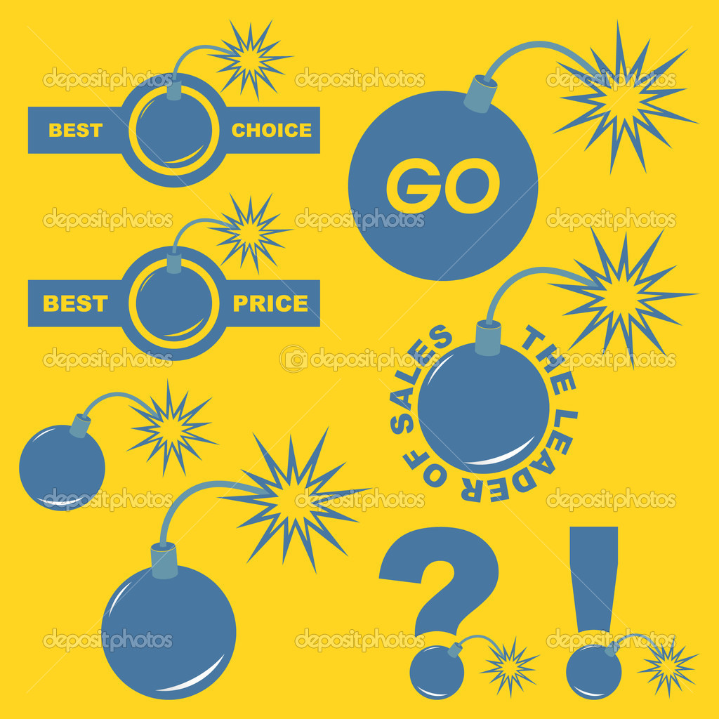 Vector great collection of sale elements. — Stock Vector #7160675