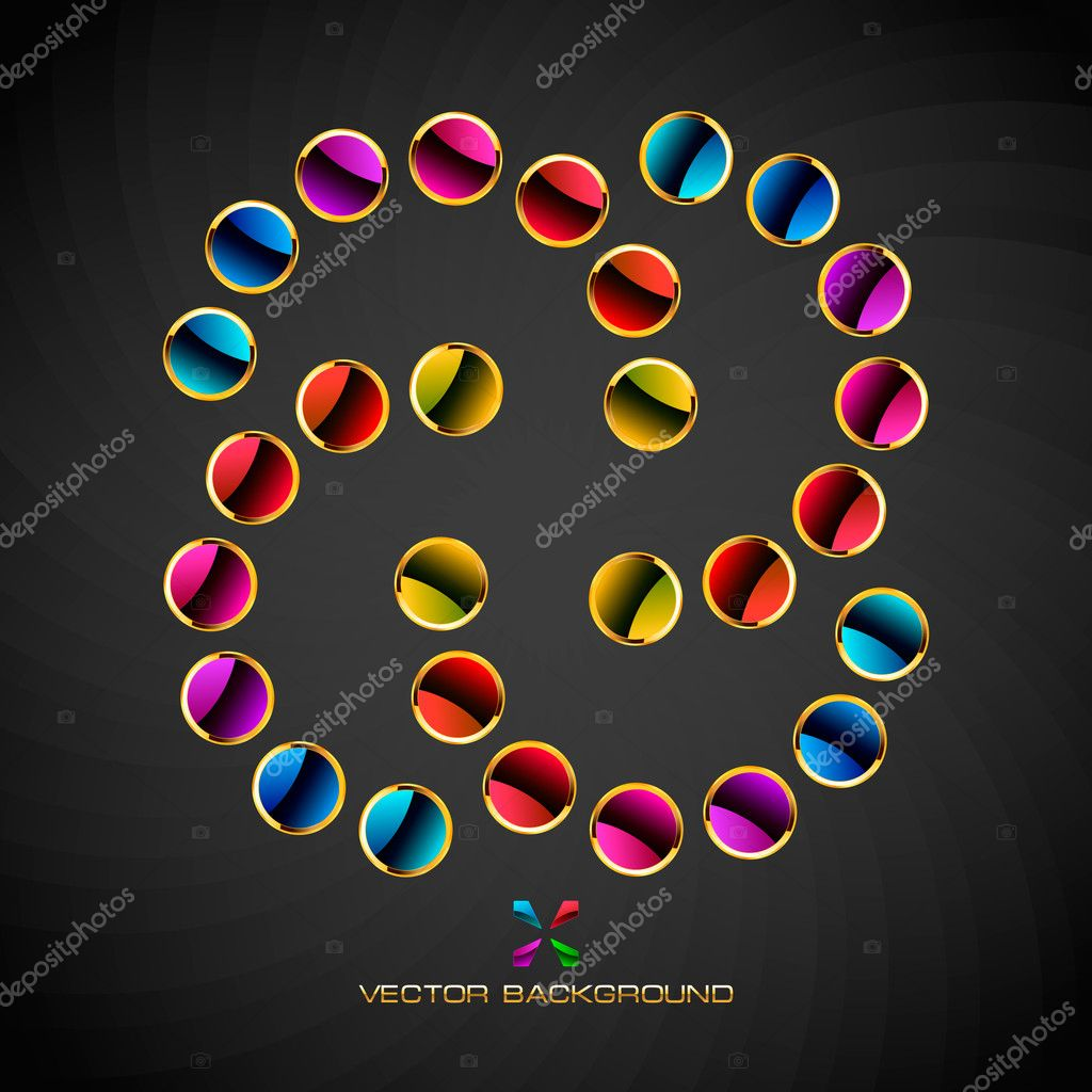 Abstract background with circle elements.  Stock Vector #7161083