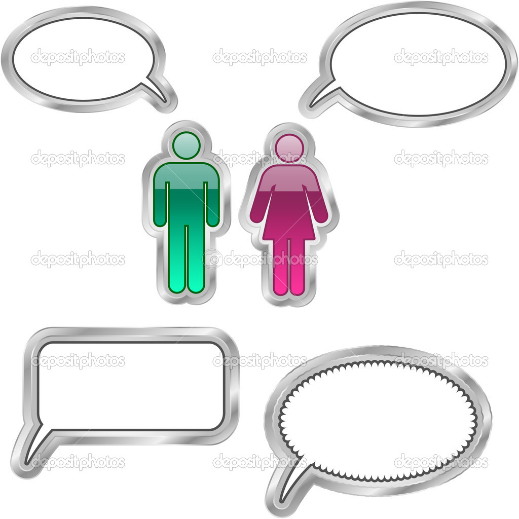 Vector speech bubble. Vector set. — Stock Vector #7161164