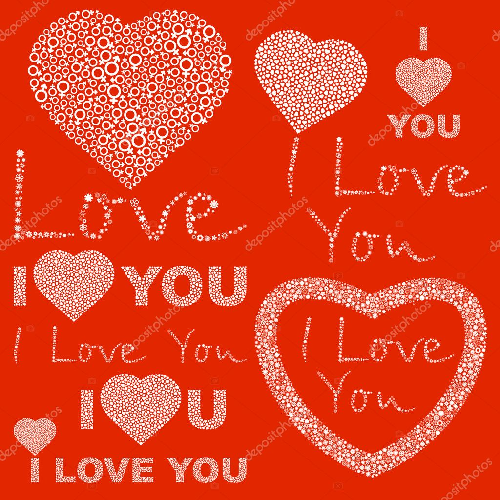 I LOVE YOU. Love message. — Stock Vector #7161185