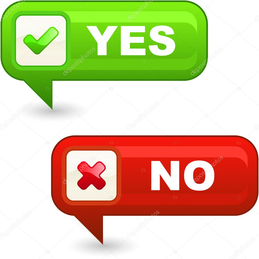 Yes and No button. — Stock Vector © studiom1 #7164766
