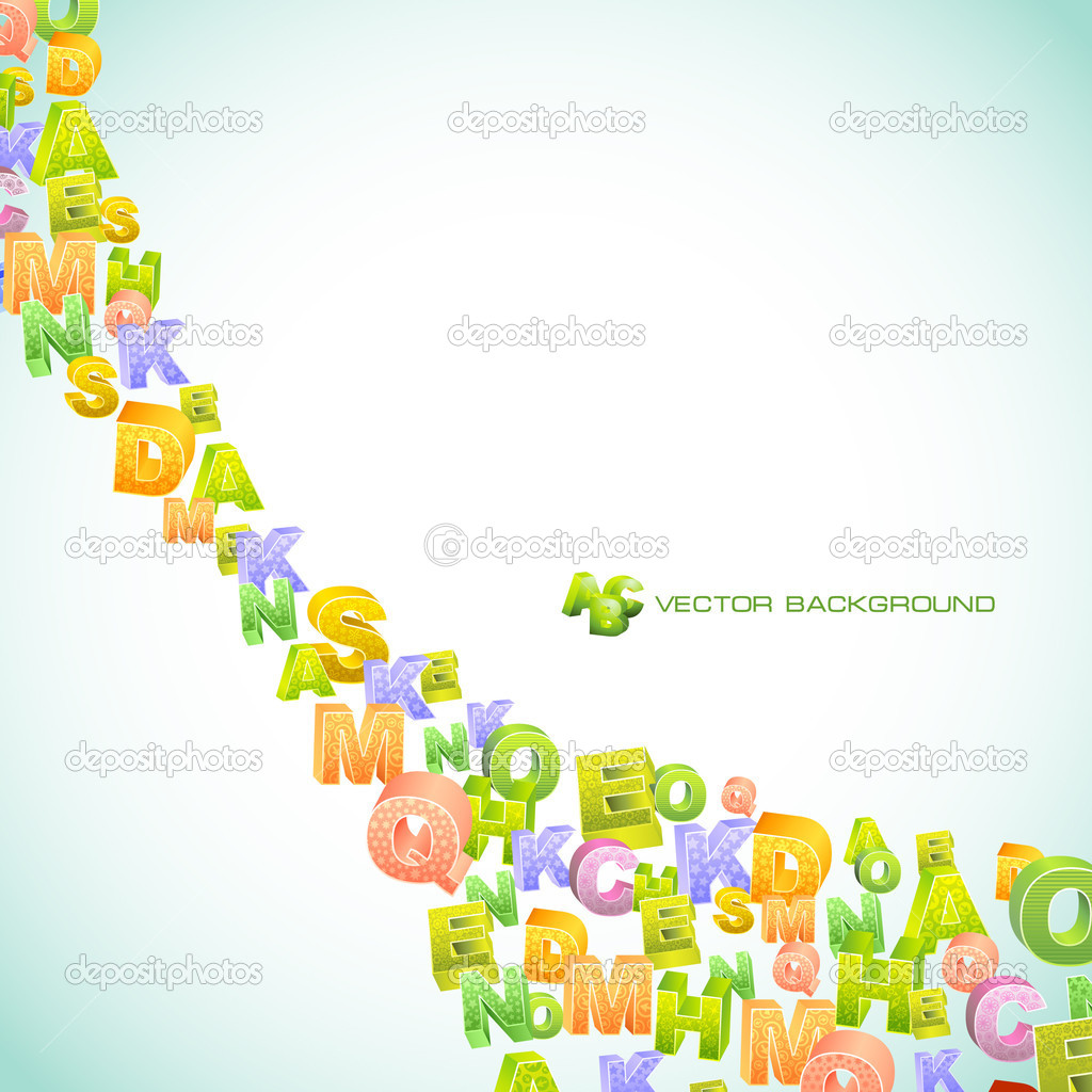 Abstract vector background with letters. Vector illustration. — Stock Vector #7168681