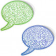 Speech bubbles with letter, mix. - Stockvektor