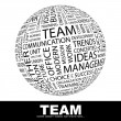 TEAM. Word collage on black background. — Vettoriali Stock