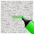 ECOLOGY.Word collage on white background.  — Stock vektor