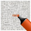 DIET. Word collage on white background. — 图库矢量图片
