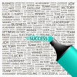 SUCCESS.Word collage on white background. - Stock Vector