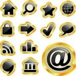 güzel Icon set vektör — Stok Vektör #7171066