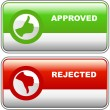 Approved and rejected icons. — Stock Vector #7171204