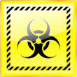 Biohazard sign. Vector illustration. - Stock Vector