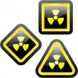 Stock Vector: Radioactive icon. Vector illustration.