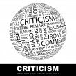 CRITICISM. — Stock Vector #7172112