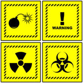 Warning sign collection. Vector illustration. — Stock Vector
