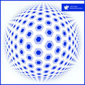Hexagon sphere. Abstract illustration. — Stock Vector