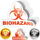 Biohazard sign. Vector illustration. — Stock Vector