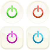 Power buttons for web. — Stock Vector