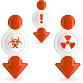 Warning element set. — Stock Vector