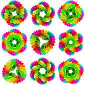 Rainbow design elements. Vector set. — Stock Vector