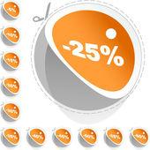 Prodej značky — Stock vektor