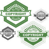 Vector copyright emblem for sale. — Stock Vector