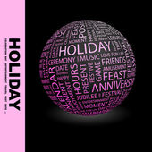 HOLIDAY. Globe with different association terms. — Vetorial Stock
