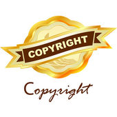 Vector copyright label for sale. — Stock Vector