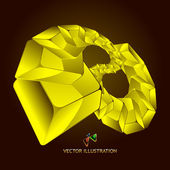 Abstract background with golden boxes — Stock Vector