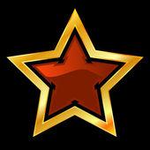 Star. Vector illustration. — Stock Vector