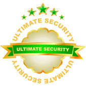 Ultimate security. Vector illustration — Stock Vector