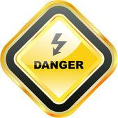 Danger vector sign. — Stock Vector