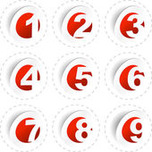 Number sticker collection. Vector set. — Stock Vector