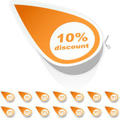 Discount sticker templates with different percentages. — Stock Vector