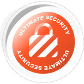 Padlock. Ultimate security. Vector sticker. — Stock Vector
