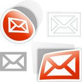 E-mailové nálepka pro web. — Stock vektor