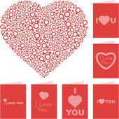 I love you. Love message set. — Stock Vector