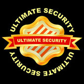 Ultimate security. Vector illustration. — Stock Vector