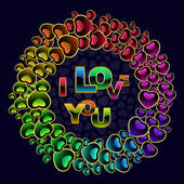 Vector love background. — Stock Vector