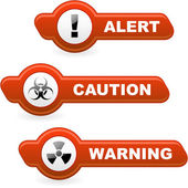 Warning vector button set. — Stock Vector