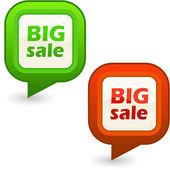 Duża sprzedaż. elementy projektu na sprzedaż. — Wektor stockowy