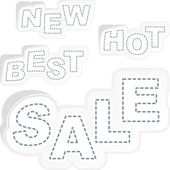 Sale word collection. Vector set. — Stock Vector