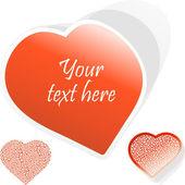 Love message. Vector illustration. — Stock Vector