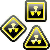 Radioactive icon. Vector illustration. — Stock Vector